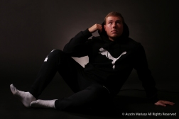 Chad Haidet poses for a portrait in the studio.