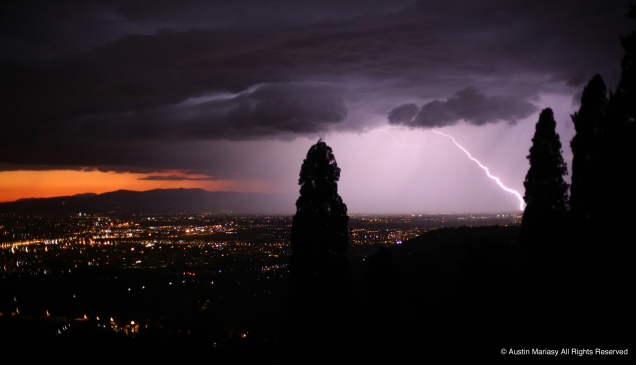 A thunderstorm over Florence, Italy on Monday, May 8, 2017.