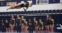 Kent senior Ali Marrero performs on the balance beam on Friday, Jan. 19, 2018.