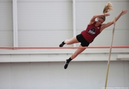 Indiana University of Pennsylvania senior Liz Copella competes in the pole vault at Youngstown State University on Friday, Feb. 2, 2018.