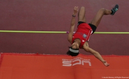 University of Detroit Mercy sophomore Kyri Jackson competes in the high jump at Youngstown State University on Friday, Feb. 2, 2018.