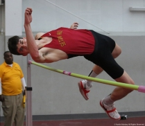 Seton Hill freshman Sven Rabsahl competes in the high jump at Youngstown State University on Friday, Feb. 2, 2018.