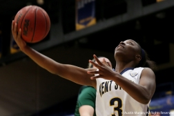 Kent State's freshman guard Asiah Dingle goes up for a layup during an exhibition game at Kent State University on Nov. 4, 2018.