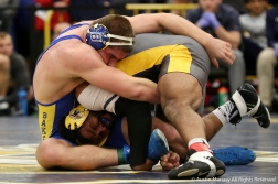Kent State University's Kyle Conel Wrestles during the Kent State Dual at Kent State University on Friday, Nov. 9, 2018. Conel is a regning All American placeing 3rd in the NCAA Tournament in Cleveland, Ohio in March.