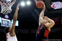 Bucknell University's senior forward Nate Sestina dunks on Ohio State's sophomore forward Kaleb Wesson during the game at Ohio State on Dec. 15.
