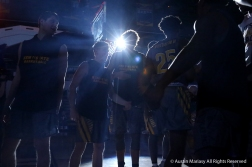 Kent State's Men's Basketball team forms a tunnel for the pre game introductions for a game against Western Michigan on Jan. 8, 2019.
