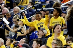 Fans dance in the stands during a University of Michigan basketball game against Binghamton University on Dec. 30, 2018. The Wolverines remained undefeated after the game with a record of 13-0.